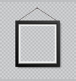 realistic blank picture or photograph frame vector image