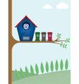 recycling bins vector image vector image