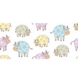 seamless pattern with cows vector image