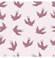 seamless pattern with swallows vector image