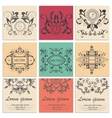 Set greeting cards flower baroque ornament vector image vector image