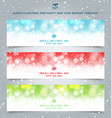 set winter christmas banners web winter white vector image