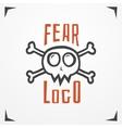 Skull fear logo vector image