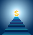 Stairs to financial success vector | Price: 1 Credit (USD $1)