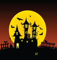 sweet and beauty castle with bats part one vector image vector image