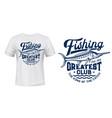 t-shirt print with big marlin fish mascot vector image vector image