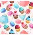 Teaparty seamless background vector image