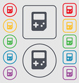 Tetris icon sign symbol on the Round and square vector image