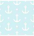 tile sailor pattern with white polka dots vector image