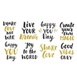 Trendy Inspirational phrases collection vector image
