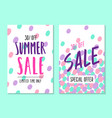 two summer sale template vector image