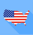 united states map with long shadow vector image vector image