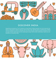 visit india concept banner template in colored vector image vector image