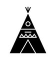 wigwam - decorated icon vector image vector image