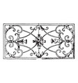 wrought-iron oblong panel is a 17th century vector image vector image