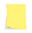 Yellow sticky note with transparent shade vector image