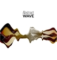 Abstract musical wave background sound vector image vector image
