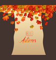 abstract tree brownie autumn leaves falling vector image