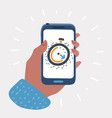 app alarm clock on screen vector image vector image