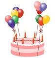 Balloon Cake vector image vector image