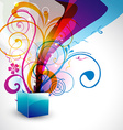 beautiful gift box vector image