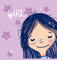 beautiful girl cartoon vector image vector image