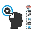 Brain Interface Plug-In Icon With Free Bonus vector image vector image