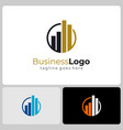 business logo real estate architecture vector image vector image