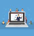 business seminar speaker presentation and vector image vector image