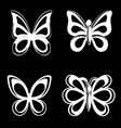 Butterfly collection on white background vector image vector image