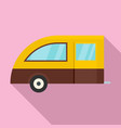 camping trailer icon flat style vector image vector image