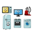 Cartoon household appliances set vector image vector image