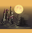 castle in the dark night vector image