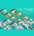 city module creator vector image vector image
