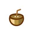 coconut and straws logo modern design inspiration vector image