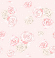 delicate roses flowers vector image vector image