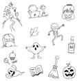 Doodle flat Halloween hand draw vector image vector image