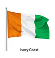 flag republic ivory coast vector image vector image