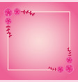 frame with flower and leafs and template for vector image vector image