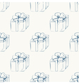 Gift boxes outline seamless pattern vector image vector image