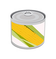 Golden corn can vector image vector image