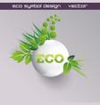green concept eco ball with grass vector image