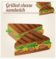 Grilled cheese sandwich Detailed icon vector image vector image