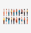group of people friends characters vector image vector image