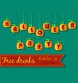 halloween party invitation pumpkin font vector image