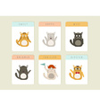 Happy Cat icons set vector image vector image