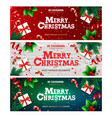 happy new year banner xmas with gifts box green vector image vector image