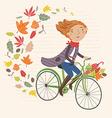 i love autumn vector image vector image