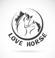Image of a horse head design vector image vector image