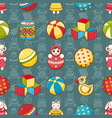 kid toy seamless pattern design element for vector image vector image